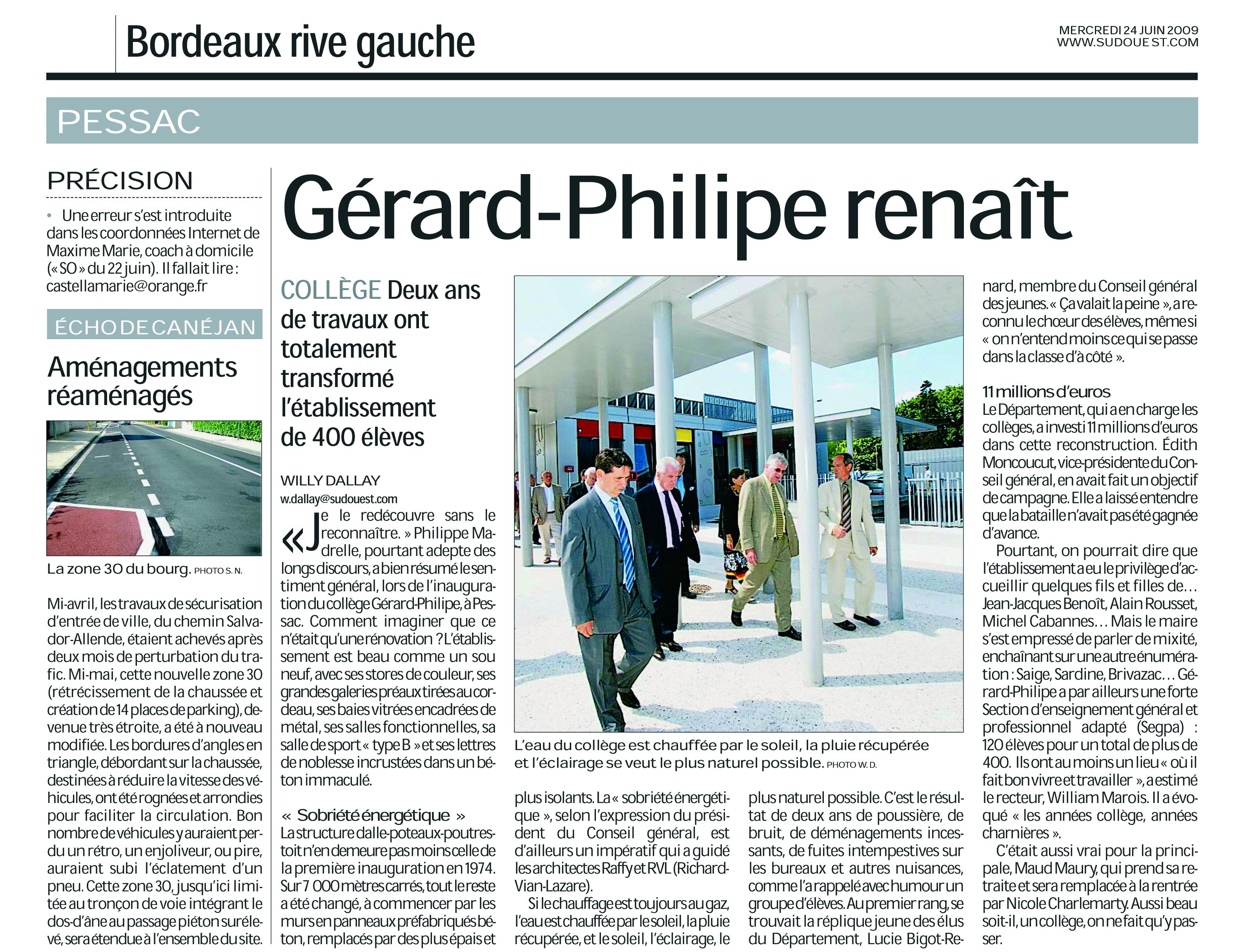 article Gérard Philippe